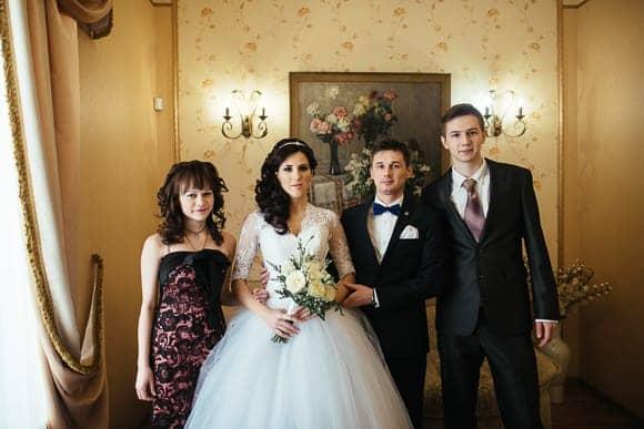 Свадебная фотосессия в ЗАГСе Адмиралтейского района Санкт-Петербурга