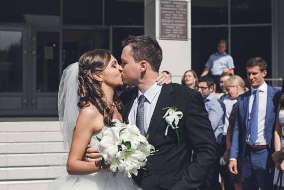 Свадебная фотосессия в ЗАГСе Калининского района Санкт-Петербурга