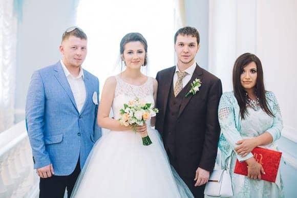 Свадебная фотосессия в ЗАГСе Кировского района Санкт-Петербурга
