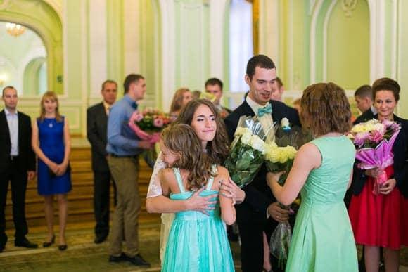Свадебная фотосессия в ЗАГСе Петроградского района Санкт-Петербурга