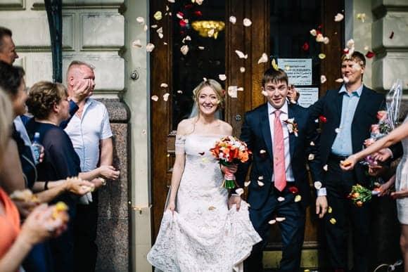 Свадебная фотосессия в Дворце Бракосочетания №2 Санкт-Петербурга